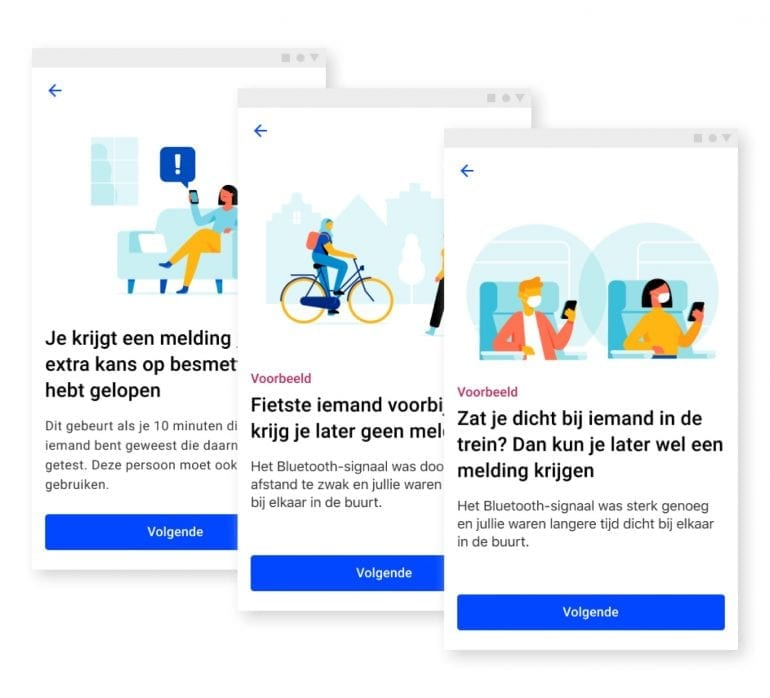 Voorbeelden en copy over de werking van de app.