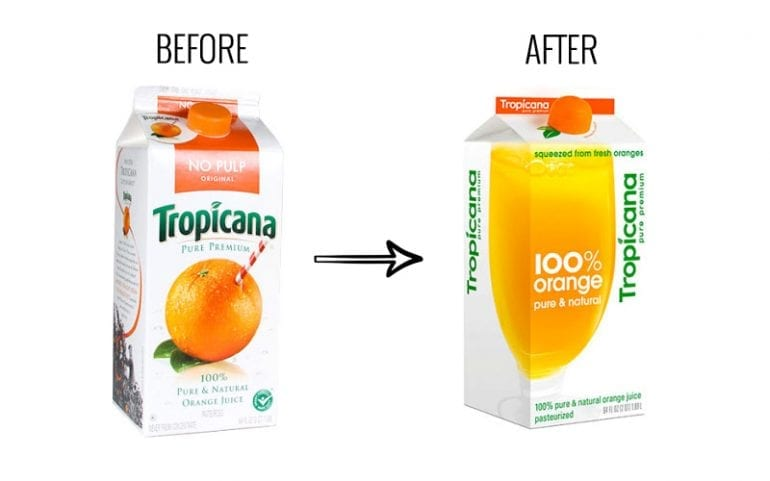 Slechte rebranding tropicana