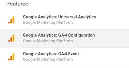 Analytics 4 configuration