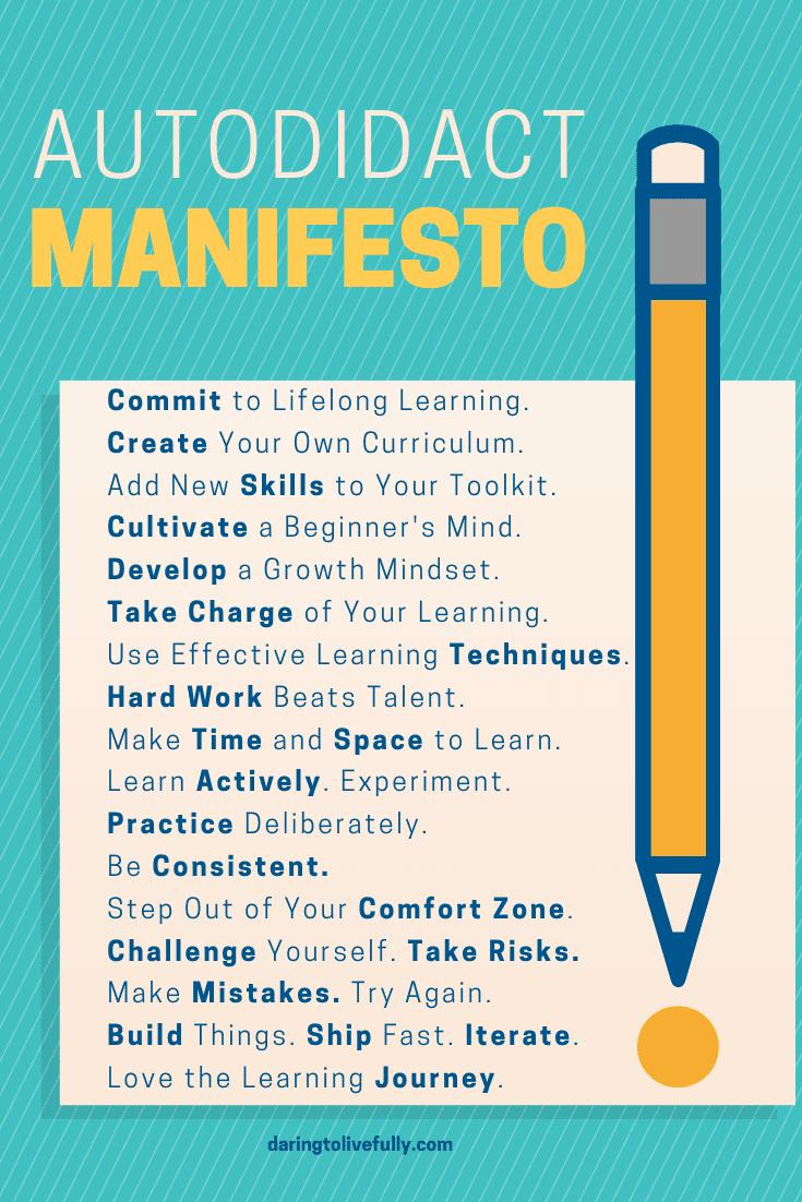 Manifest voor de autodidact.