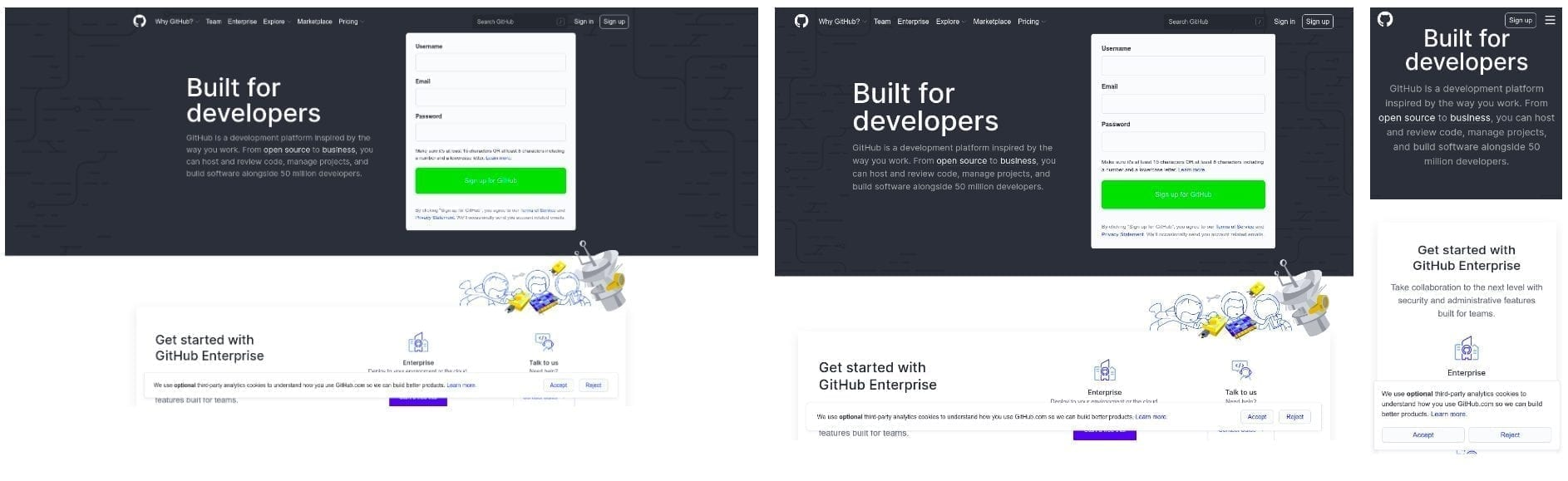 Responsive web design voorbeeld Github