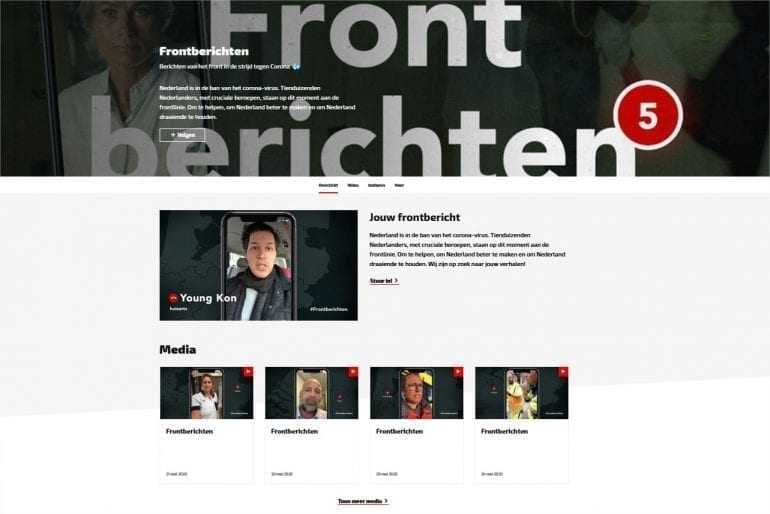 Frontberichten website.