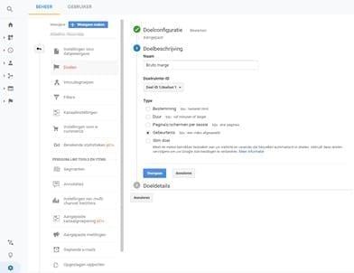 Doel Instellen google Analytics