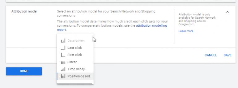 attributiemodellen binnen Google.