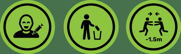 corona iconen groen