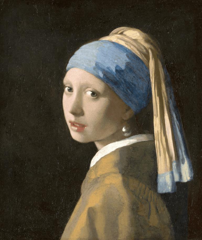 Meisje met de parel als voorbeeld voor social advertising.