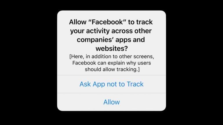 Tweet Tim Cook Tracking ios 14 Facebook