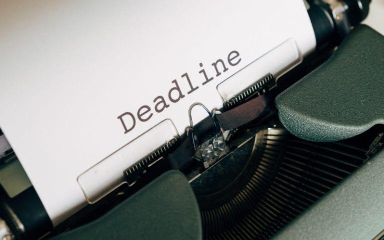 Deadline voor briefing copywriter