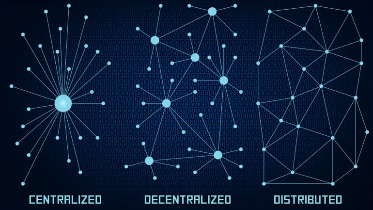 Centralized versus decentralized.