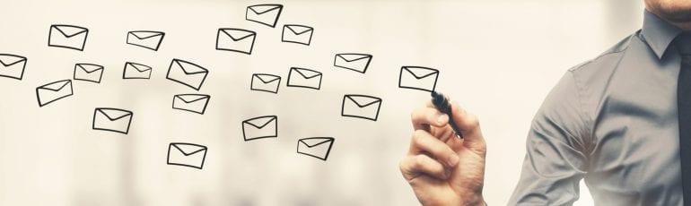 e-mail tekenen op bord