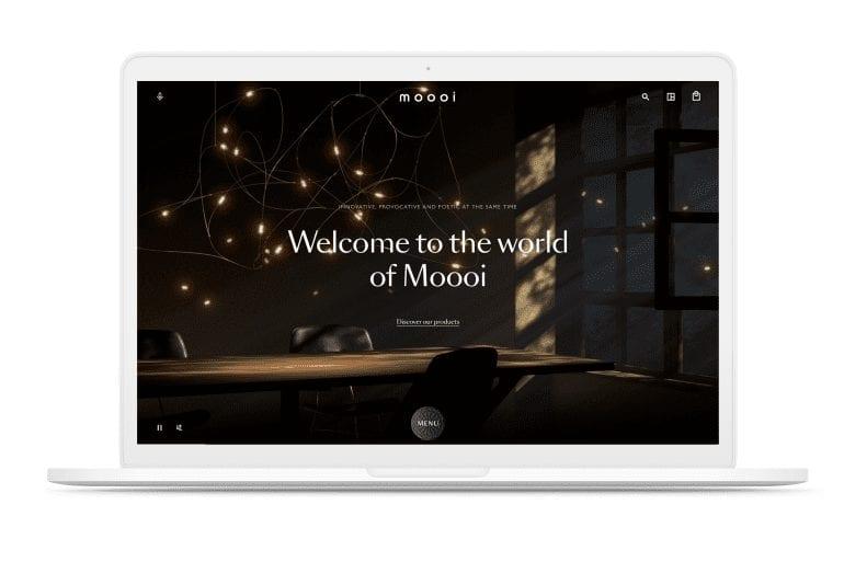 screenshot van website moooi