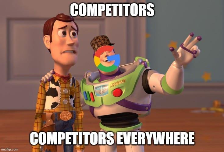google scumbag competitors