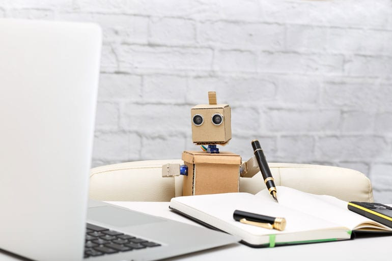 Robot schrijft.