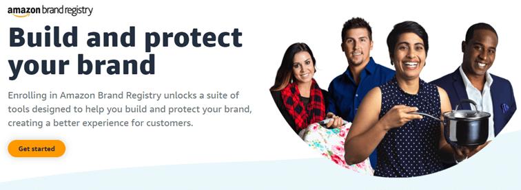 Startpagina Amazon brand registry
