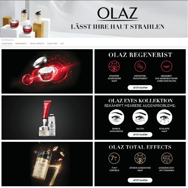 De pagina van Olaz op Amazon
