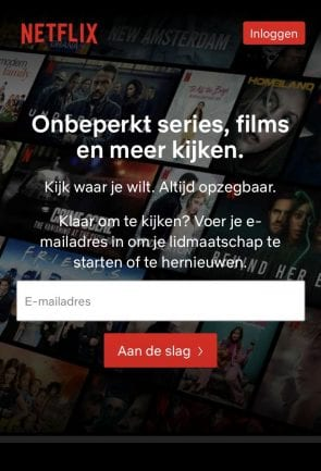 Call to action Netflix