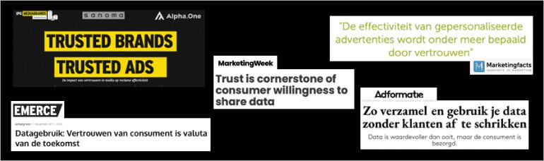 Consumenten opmerkingen over vertrouwen als sleutel tot persoonlijk adverteren.