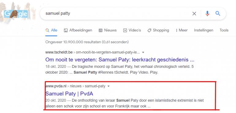 PvdA rankt voor Samuel Patty