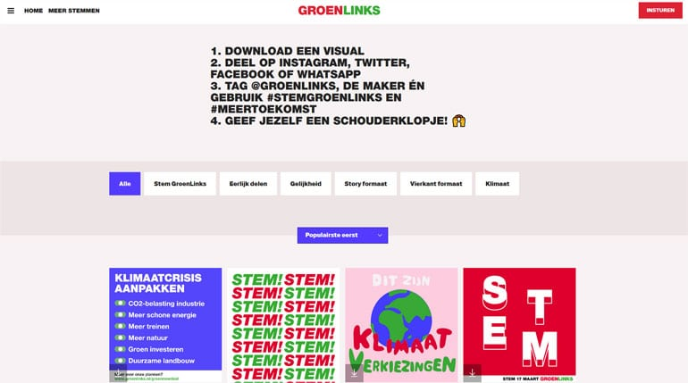 Groenlinks visuals delen.