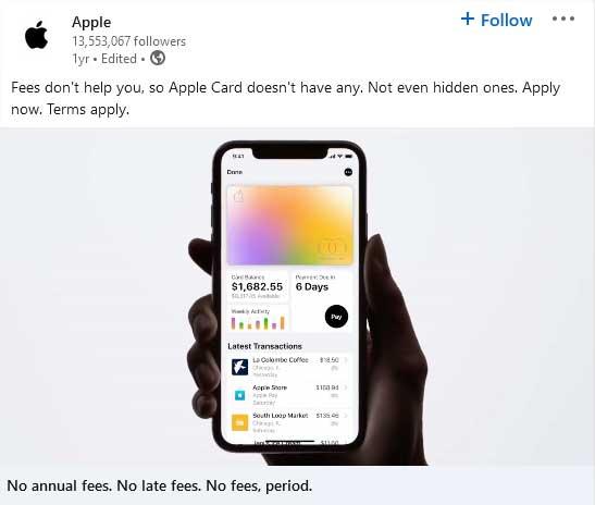 LInkedIn-video van Apple.