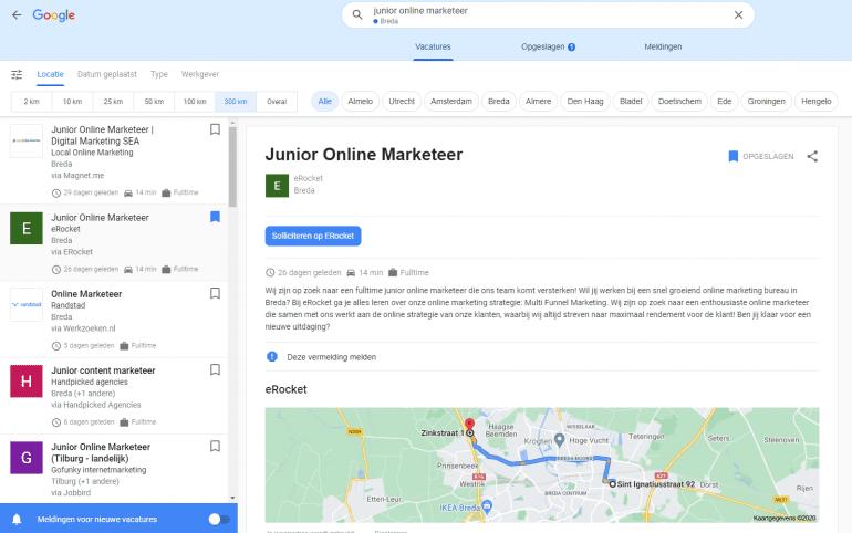 Toekomst Google for Jobs