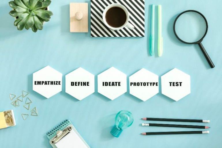 design thinking-stappen