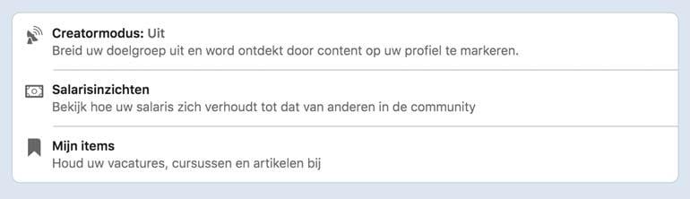 LinkedIn Creator Mode inschakelen.