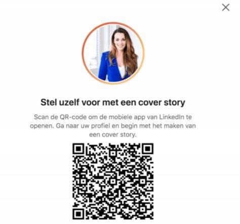 Screenshot van een LinkedIn Cover Story.