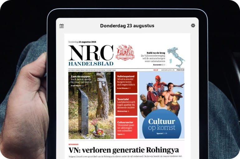 NRC op tablet.