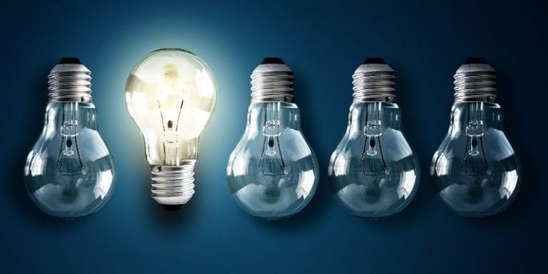Lampen die symbool staan voor een oplossing