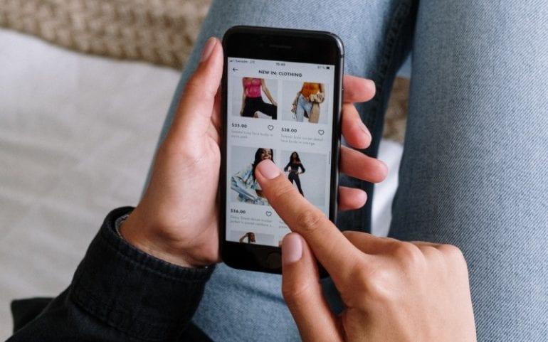 Winkelen op smartphone