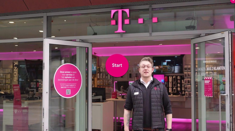 Video experience van de T-Mobile shop
