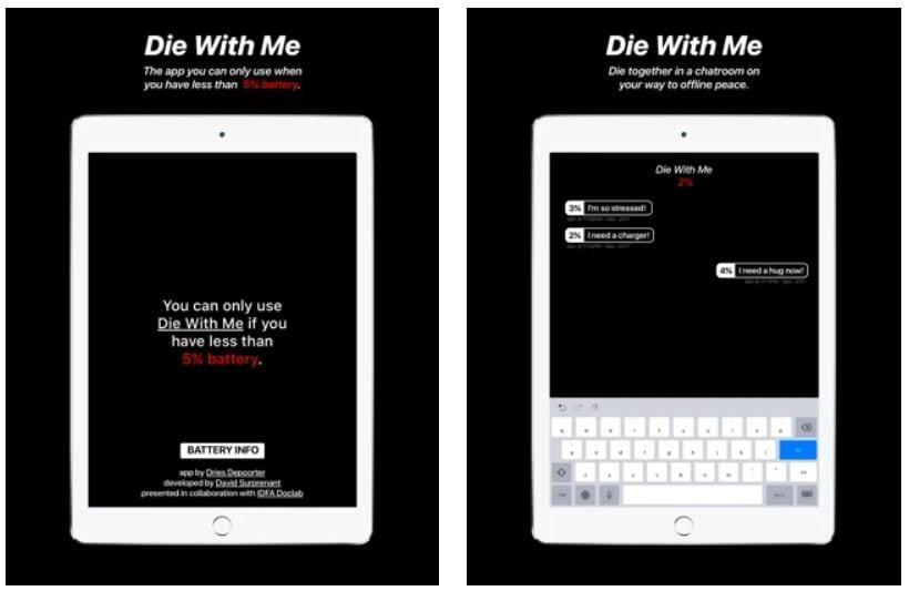 Screenshot van Die With Me.