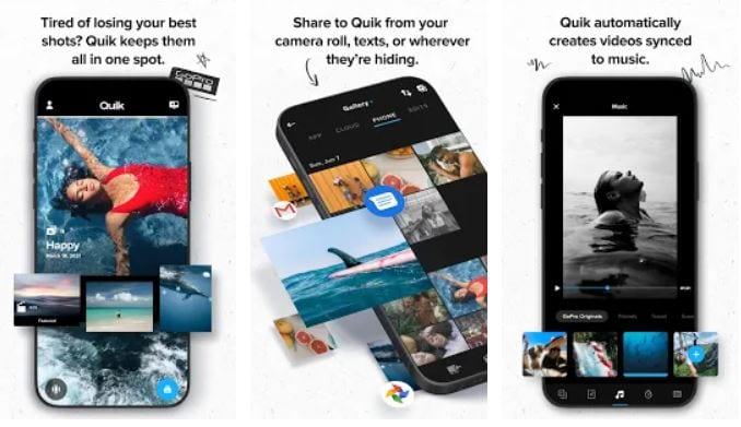 Screenshot van de app Quick.