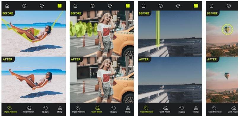 Screenshot van de app Retouch.