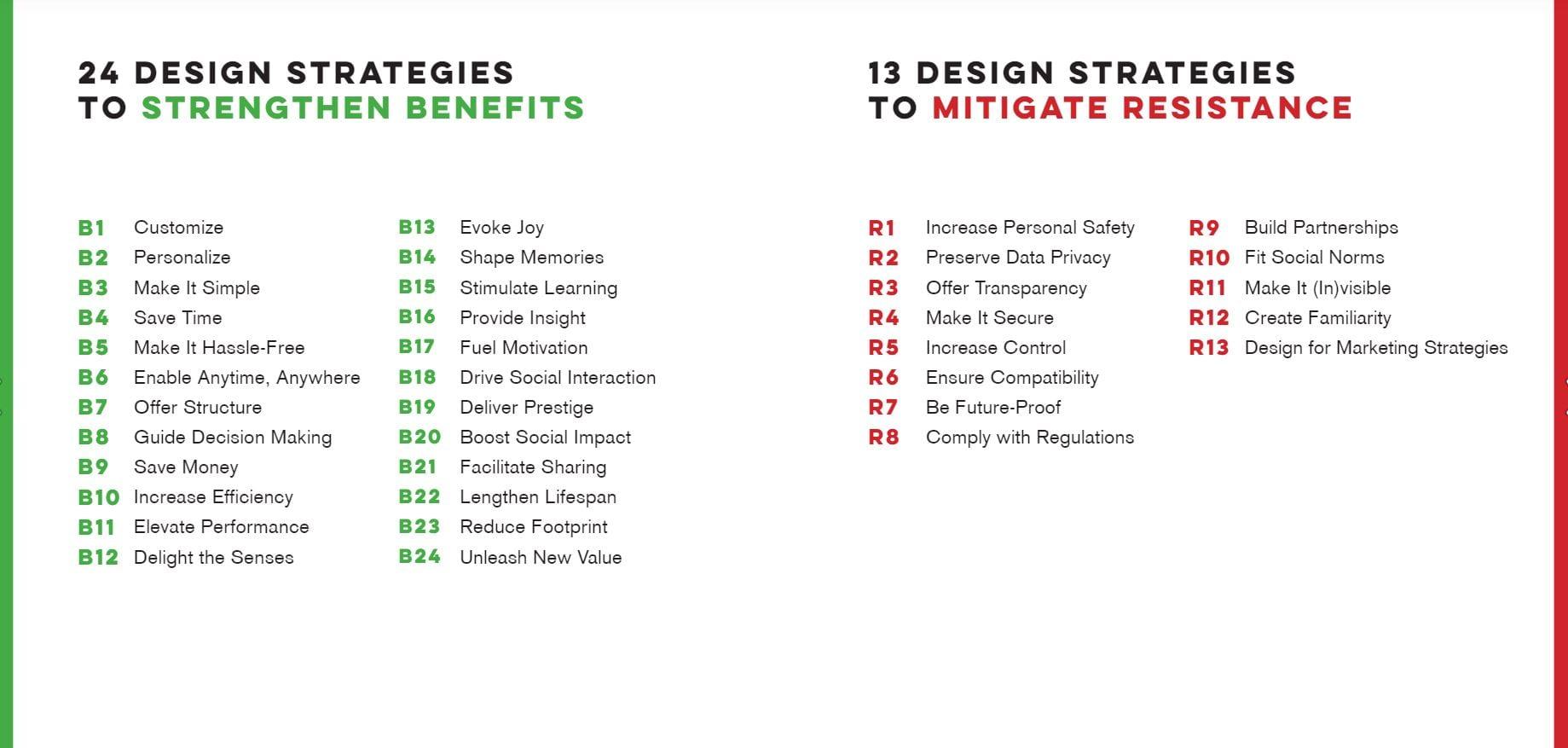design - strategies - voordelen versterken en weerstand overwinnen