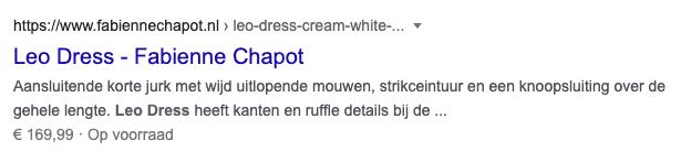 Google Ad van Fabienne Chapot.