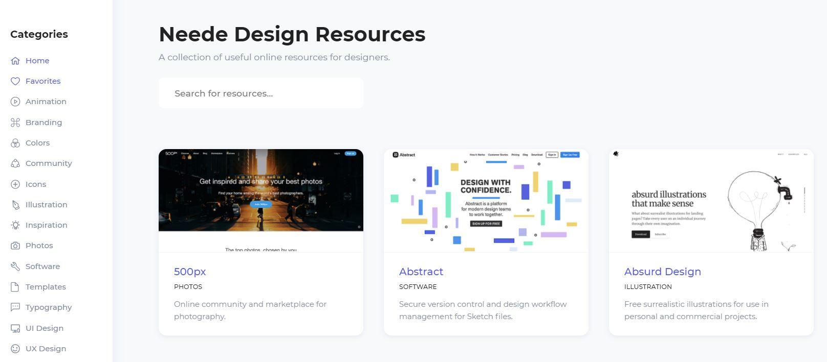 Neede Design Resources, een van de design-tools.