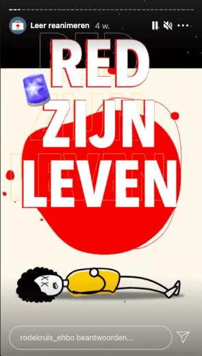 Instagram-campagne van Rode Kruis.