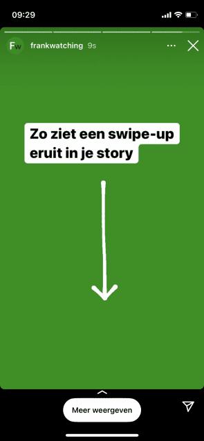De swipe-up-functie in Instagram.