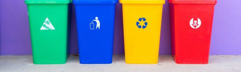 Header met vuilnisbakken bij artikel over vervelende klanten