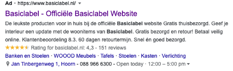 Basiclabel Search Extensies.