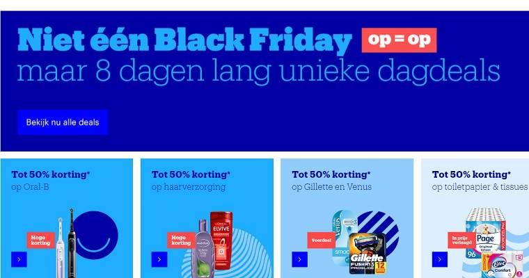 Screenshot van de deals van Bol.com.
