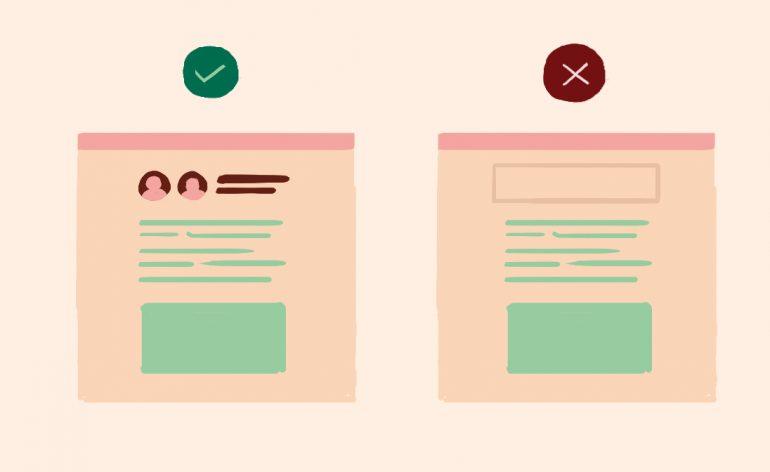Facebook richtlijnen contentdistributie - voorbeeld transparant auteurschap