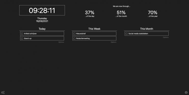 Schermafbeelding van Prioritab extensie