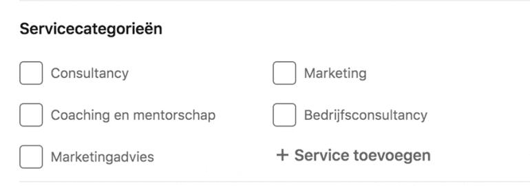 Services linkedIn