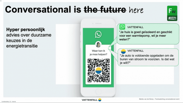 Conversational is here - Vattenfall