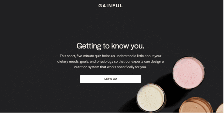 Shoppable quiz van Gainful.