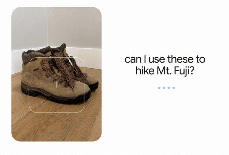 Google MUM, zoeken naar geschikte schoenen om de Mr. Fuji mee te beklimmen.